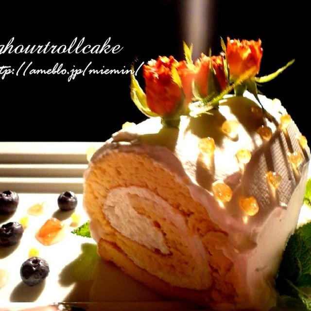 Desert☆ヨーグルト&コラーゲンのクリームたっぷりロールケーキ