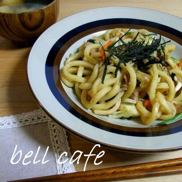 【カロリー・塩分量付き】香味野菜の焼うどん