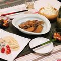 ★(ダイエット休日)ごぼ鶏手羽照り煮&干し柿もずく酢