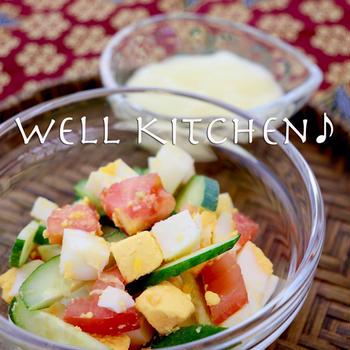 クセさえない ソースかけて ぐんぐん食べる お腹を充してきた 気失わないように 混ぜたらいいね卵サラダ