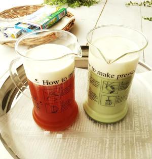 抹茶ミルク&フルーツフレーバーのチーズティー
