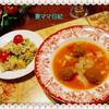 大根とミートボールのトマトスープ