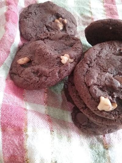 ☆レシピ☆ナッツのダブルチョコレートアメリカンクッキー