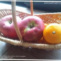 ミカンと林檎でブルフラ♪♪