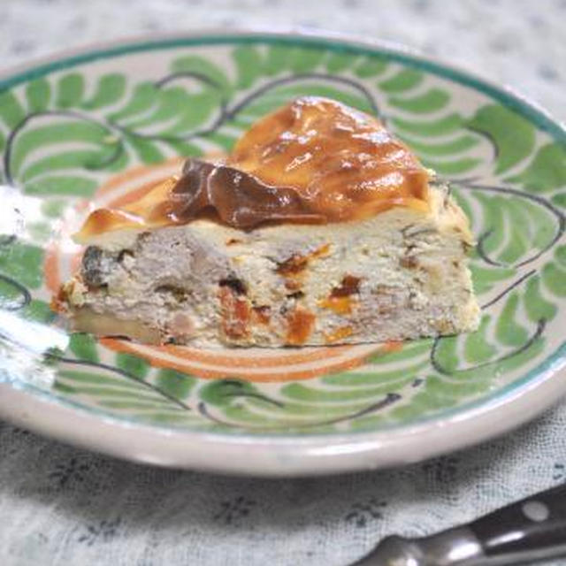 ハーブ&くるみ・ドライトマトの塩チーズケーキ