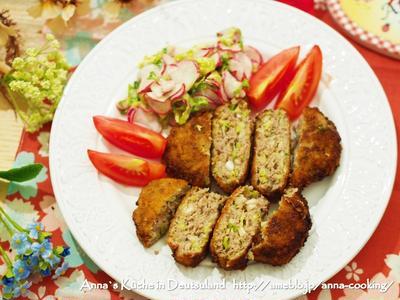【主菜】二度揚げでサクサク♪ 基本の!キャベツたっぷり♡メンチカツ と冬休みの計画とノルウェー