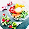糀甘酒で野菜のピクルスとブッラータの味噌漬け