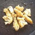鶏皮のハーブソルト黒コショウ焼き