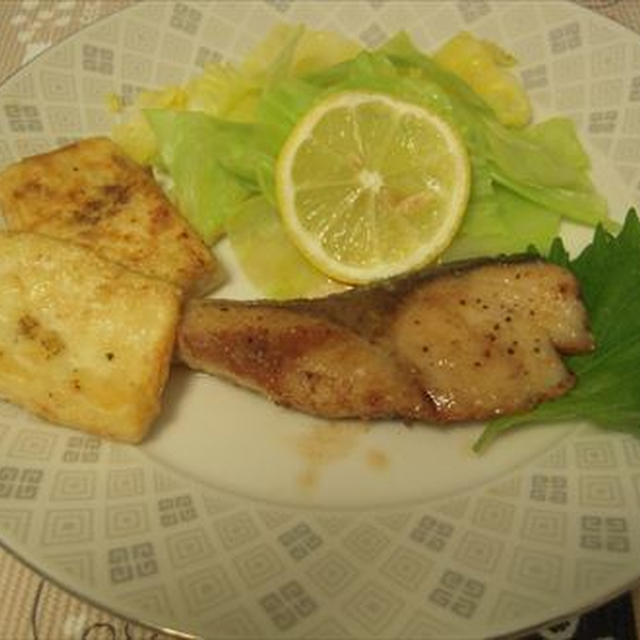 ブリのバターソテー・豆腐ステーキとワンプレート