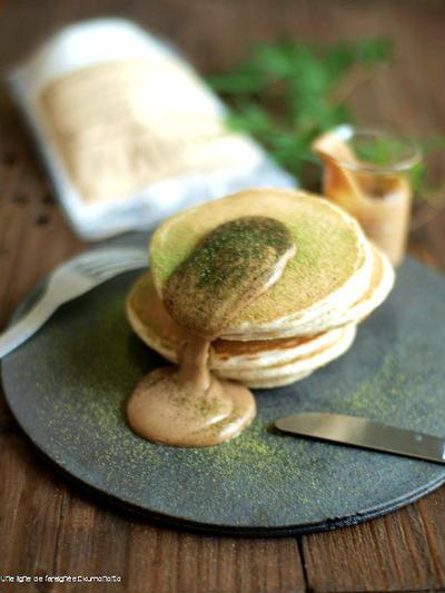 九州パンケーキに、黒糖きな粉クリーム。