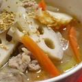 根菜の食べるスープ&沖縄紅いもタルトパートⅡ