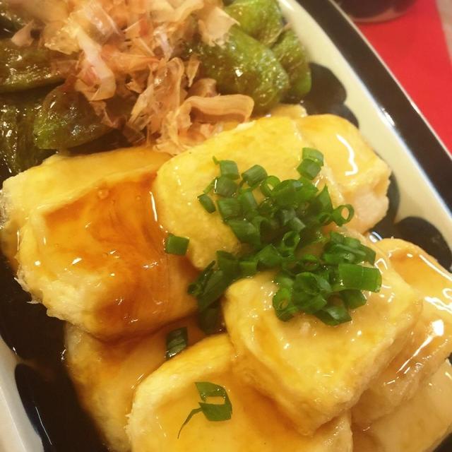 簡単裏技で!揚げ焼き絹豆腐