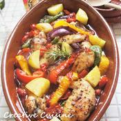 骨付きチキンと野菜のガーリック煮