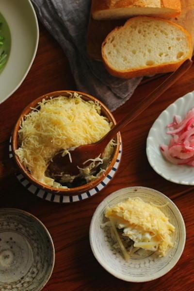 ウズベキスタン風 オイルサーディンとじゃが芋のサラダ(ミモザサラダ)