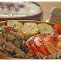 豚肉・蓮根の炒め煮&エビと帆立のソテー