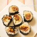 ゴーヤと肉の巻き寿司