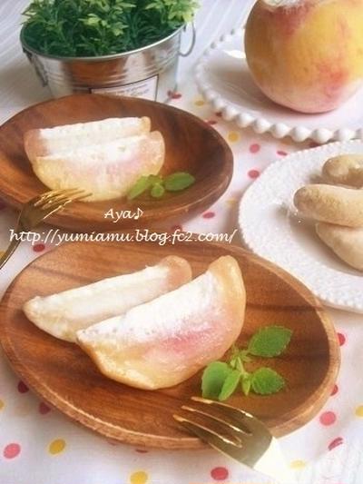 ひんやり美味し~い♪ 丸ごと桃のアイスシャーベット