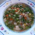 3分レンチンするならヘルシー野菜スープ