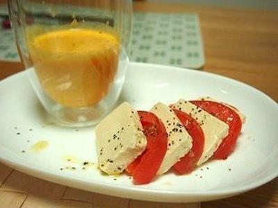■レシピ■塩麹豆腐のカプレーゼ風