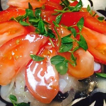 [10分料理] スライスタコとトマトマリネ