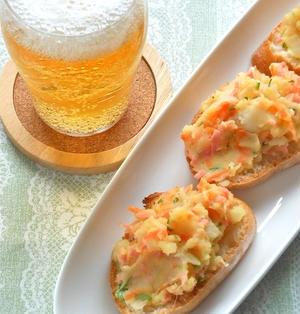 連休おうちのみはビールに合う〜マヨなしヘルシーガラムマサラでスパイシーポテサラ。