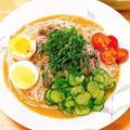 リピート必須。夏野菜とイワシの元気モリモリ絶品「冷汁そうめん」レシピ