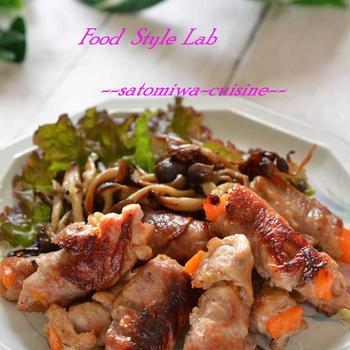 米油とスパイスの組み合わせで美味しく!クミン香る豚肉の人参巻きソテー