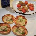 スパークリング清酒「澪」deベーコンとししとうの餃子の皮ピザ