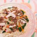ひな祭りのひき肉ちらし寿司&ひなあられ餅