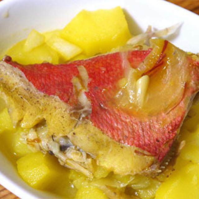 キンメとじゃがいものスープ煮〜サフランで金色♪