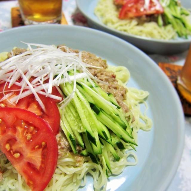 ●レシピ●ジャージャー麺~甘辛肉味噌で食べる冷たい麺~