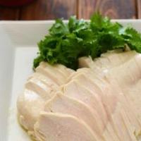 チキンマリネ。(レンジ塩鶏、からの)ボタニカルオイルミックスで。