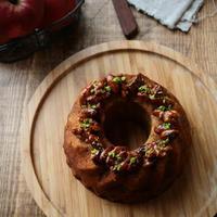 アールグレイとシナモンが香るキャラメル林檎のケーキ