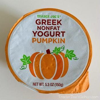 トレジョ パンプキングリークヨーグルト Trader Joe's Nonfat Greek Yogurt Pumpkin