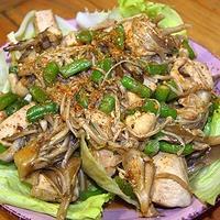鶏胸肉を使用したピリ辛のうまソース炒め