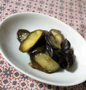 なすのオリーブオイル蒸し煮