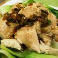 蒸し鶏 ~  カリフラワーライスのカレー風味リゾット