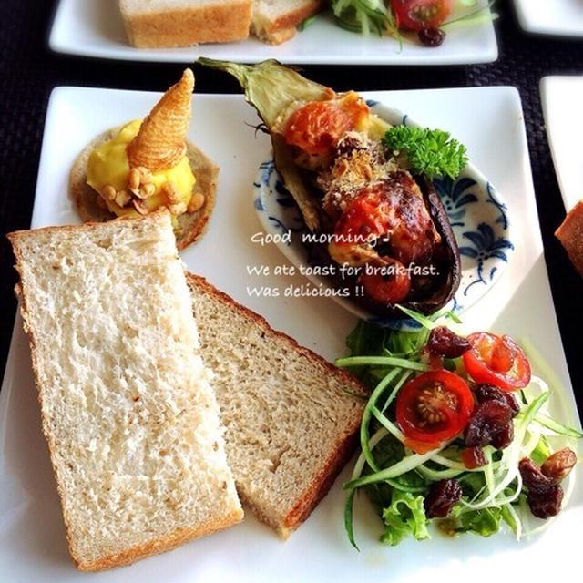 茄子とトマトのグリル/スイートポテトのカナッペ