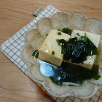 レシピブログ**ねぎ塩スープで豆腐あんかけ**