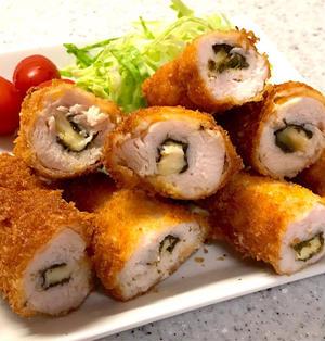 【ささみチーズフライ】チーズ&味付のりイン【簡単レシピ】&晩ごはん❁︎