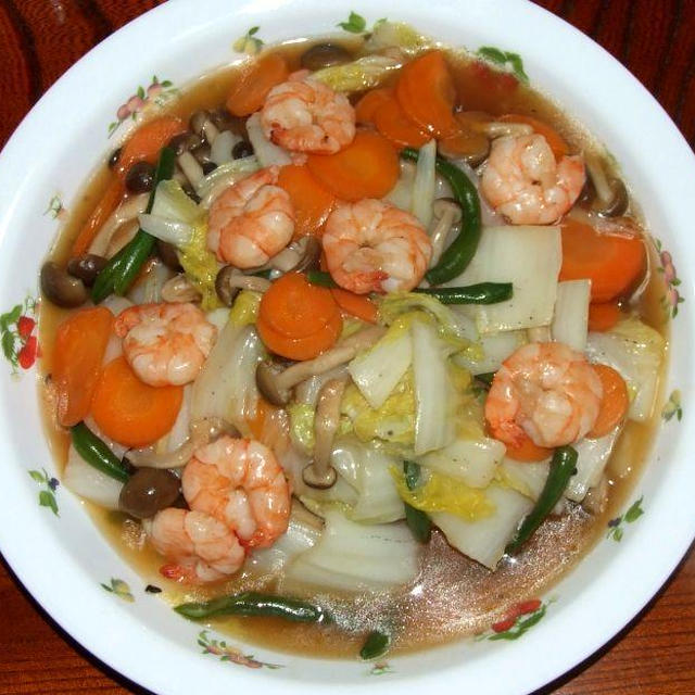 八宝菜&トマト素麺