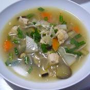 調味料はひとつ!具沢山野菜スープ