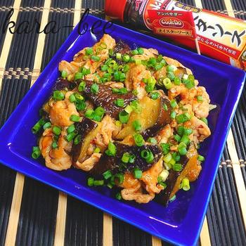 節約食材で簡単激ウマ♪豚こまと茄子のオイ味噌醤炒め