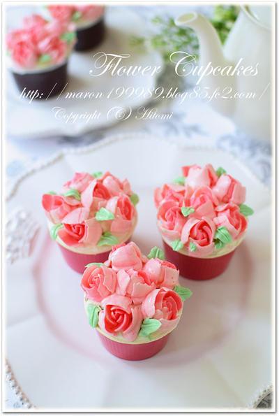 3D口金☆フラワーカップケーキ