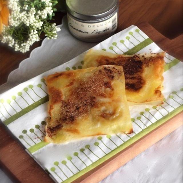 《レシピ》春巻きの皮でパリパリ簡単バナナパイ