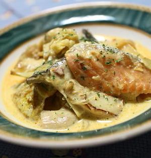 18/05/08 鮭とキムチのカレークリーム煮