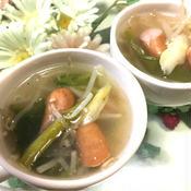 ウインナーともやしの大満足スープ☆さっぱりレモン風味