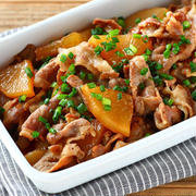 豚肉と大根のこってり炒め煮