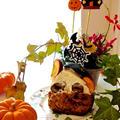 切り口はこちらです♡『かぼちゃ丸ごと姫りんごケーキ』☆