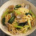 鉄分豊富なアサリと小松菜の和風パスタ